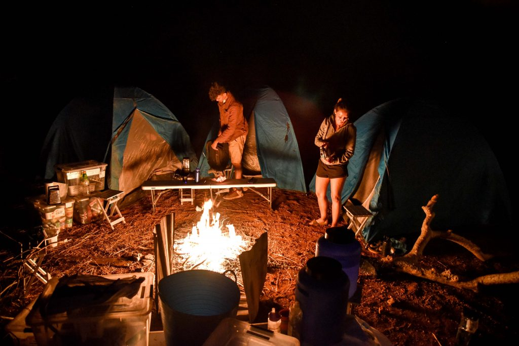 Share Bus camp set up