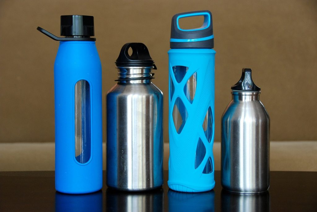 Water bottles; make sure you always have enough for cooking and drinking during your camping road trip