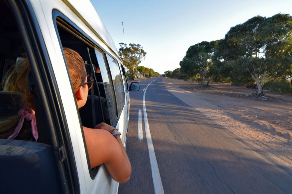 An image of someone on a camping road trip in Australia.